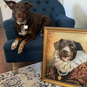 The Duchess Custom Pet Portrait Poster - Noble Pawtrait