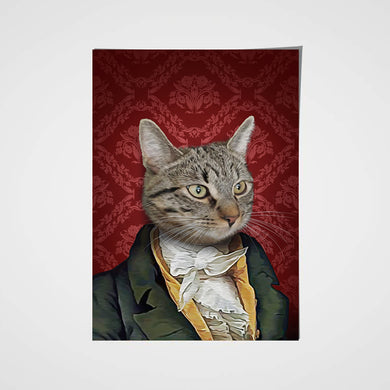 The Duke Custom Pet Portrait Poster - Noble Pawtrait