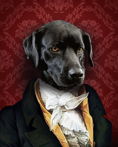The Duke Custom Pet Portrait Digital Download - Noble Pawtrait