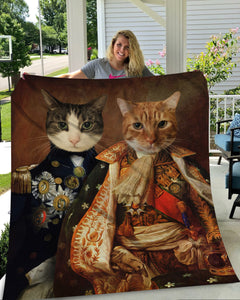 The Duo Custom Pet Blanket - Noble Pawtrait