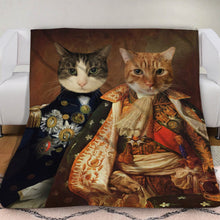 Load image into Gallery viewer, The Duo Custom Pet Blanket - Noble Pawtrait