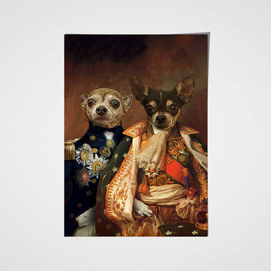 The Duo Custom Pet Portrait Poster - Noble Pawtrait