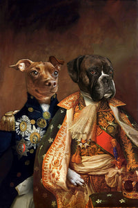 The Duo Custom Pet Portrait Digital Download - Noble Pawtrait
