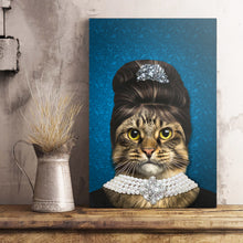 Load image into Gallery viewer, The Elegant Madam Custom Pet Portrait Poster - Noble Pawtrait