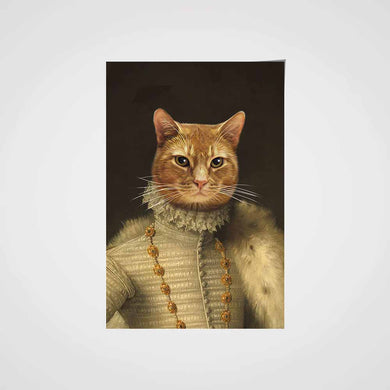 The Elizabethan Custom Pet Portrait Poster - Noble Pawtrait