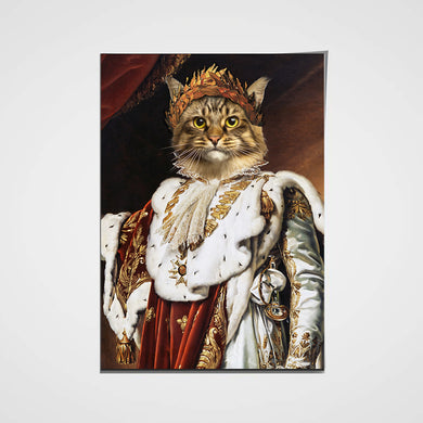 The Emperor Custom Pet Portrait Poster - Noble Pawtrait