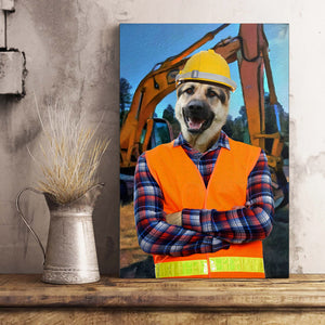 The Engineer Custom Pet Portrait Poster - Noble Pawtrait