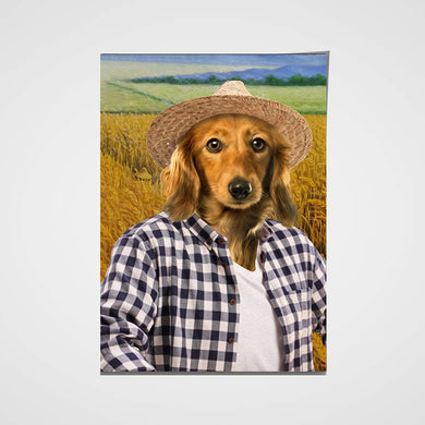 The Farmer Custom Pet Portrait Poster - Noble Pawtrait