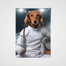 Load image into Gallery viewer, The Fencer Custom Pet Portrait Poster - Noble Pawtrait