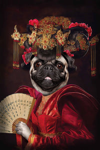 The Geisha Custom Pet Portrait - Noble Pawtrait