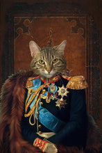 Load image into Gallery viewer, The General Custom Pet Portrait - Noble Pawtrait