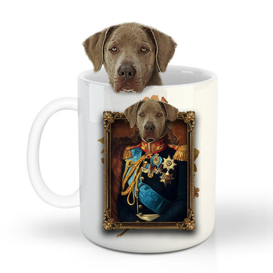 The General Custom Pet Mug - Noble Pawtrait