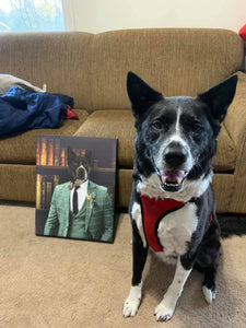 The Gentleman Custom Pet Portrait Canvas - Noble Pawtrait