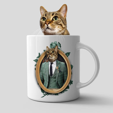 The Gentleman Custom Pet Mug - Noble Pawtrait