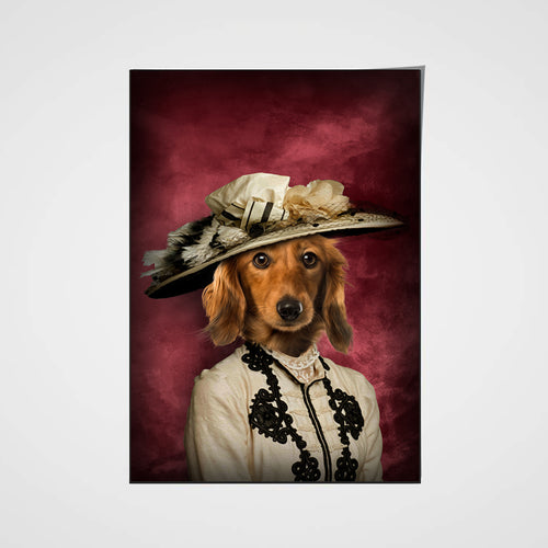 The Glamorous Lady Custom Pet Portrait Poster - Noble Pawtrait