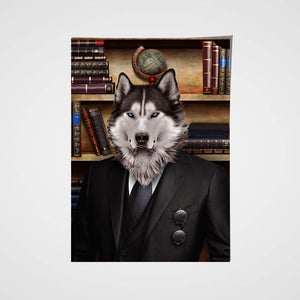 The Grinder Custom Pet Portrait Poster - Noble Pawtrait