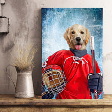 Load image into Gallery viewer, The Ice Hockey Player Custom Poster Pet Portrait - Noble Pawtrait