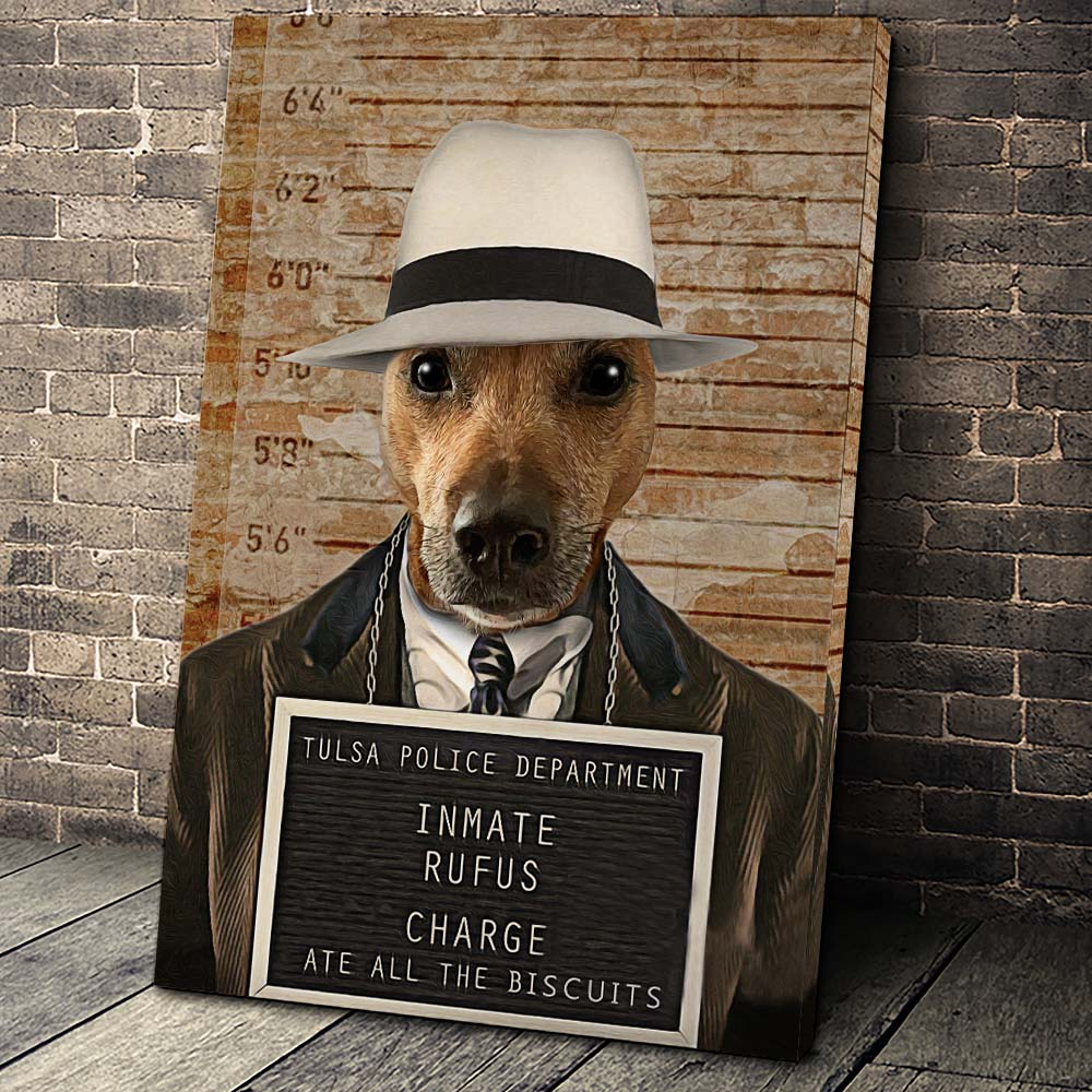 The Inmate Custom Pet Portrait Canvas - Noble Pawtrait