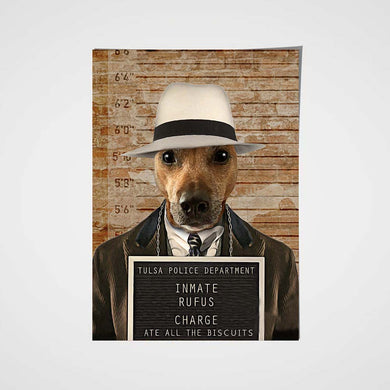 The Inmate Custom Pet Portrait Poster - Noble Pawtrait