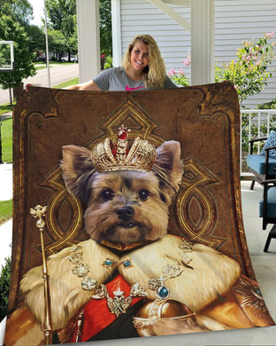 The King Custom Pet Blanket - Noble Pawtrait