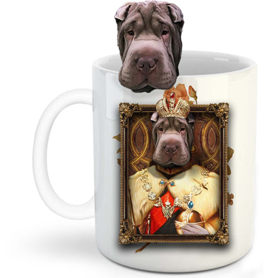 The King Custom Pet Mug - Noble Pawtrait