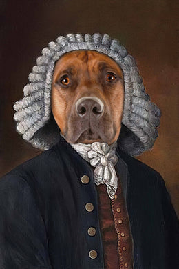 The Law Custom Pet Portrait Digital Download - Noble Pawtrait