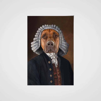 The Law Custom Pet Portrait Poster - Noble Pawtrait