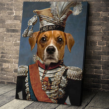 Load image into Gallery viewer, The Legend Colonel Custom Pet Portrait Canvas - Noble Pawtrait