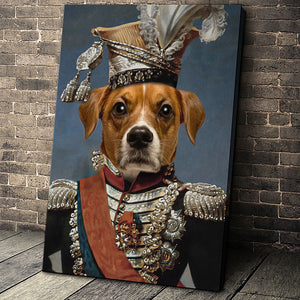 The Legend Colonel Custom Pet Portrait Canvas - Noble Pawtrait