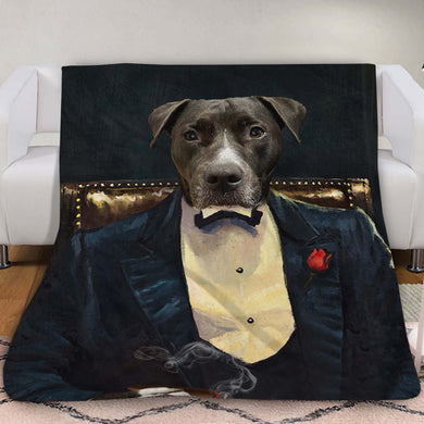 The Legend Custom Pet Blanket - Noble Pawtrait