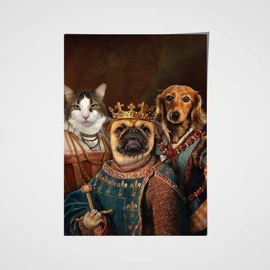 The Legend Trio Custom Pet Portrait Poster - Noble Pawtrait