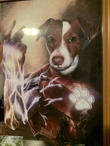 The Machina Custom Pet Portrait Poster - Noble Pawtrait