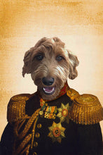 Load image into Gallery viewer, The Major Custom Pet Portrait Canvas - Noble Pawtrait