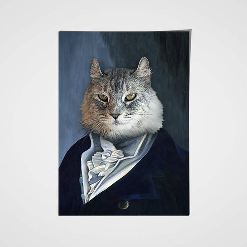 The Man Custom Pet Portrait Poster - Noble Pawtrait