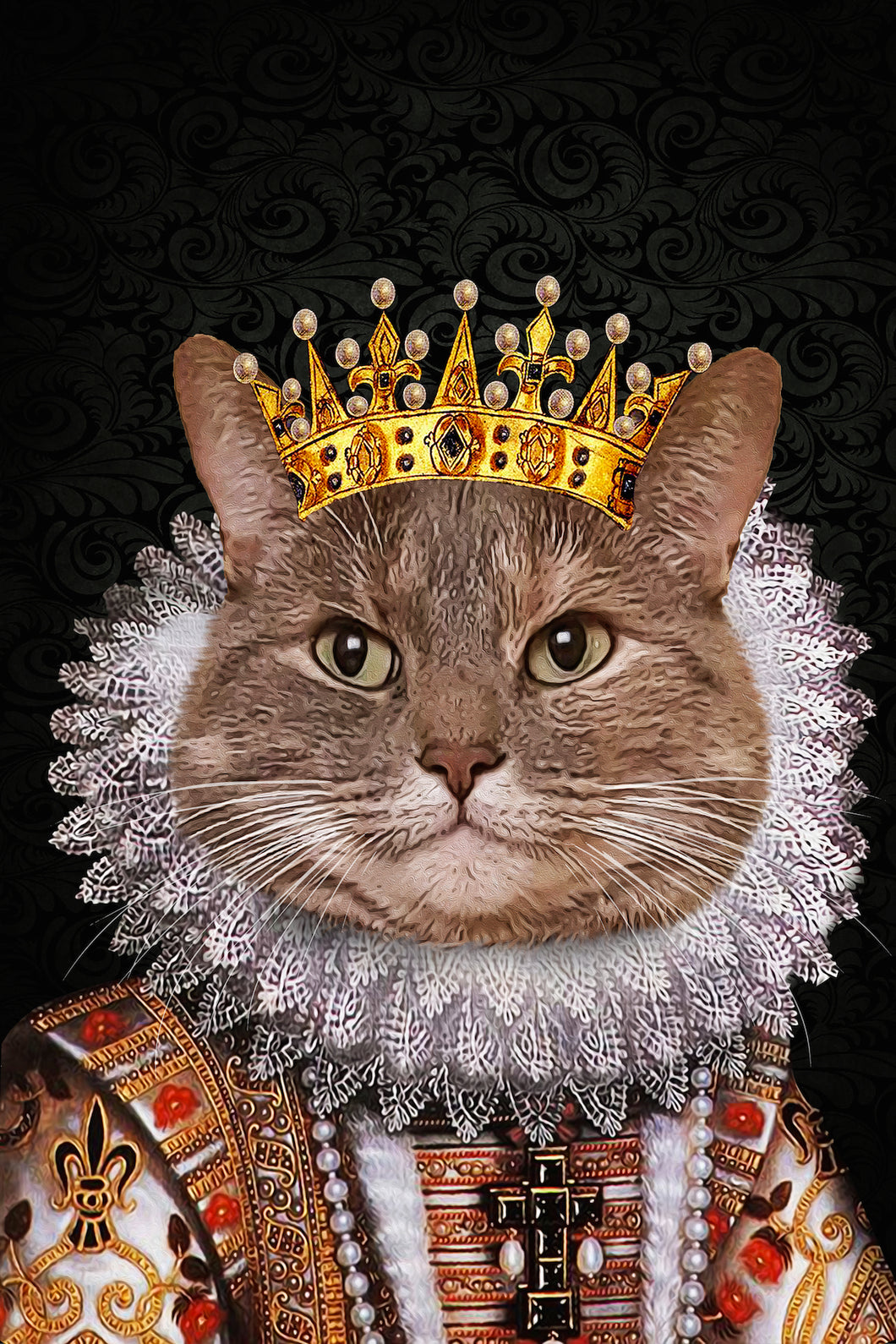 The Monarch Custom Pet Portrait Digital Download - Noble Pawtrait