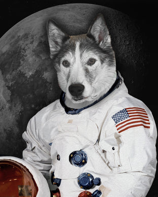 The Moon Walker Custom Pet Portrait Digital Download - Noble Pawtrait