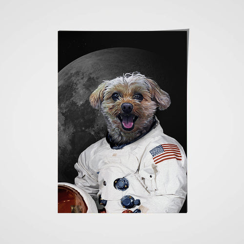 The Moon Walker Custom Pet Portrait Poster - Noble Pawtrait