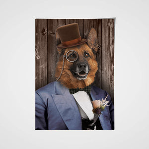 The Mr. Custom Pet Portrait Poster - Noble Pawtrait