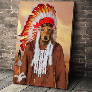 The Native Custom Pet Portrait Canvas - Noble Pawtrait