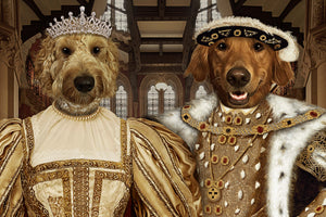 The Noble Royal Couple Custom Pet Portrait Digital Download - Noble Pawtrait