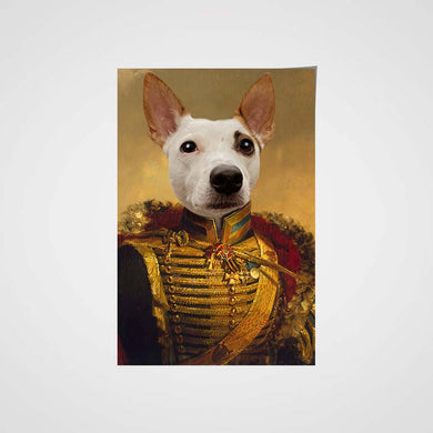 The Noble General Custom Pet Portrait Poster - Noble Pawtrait