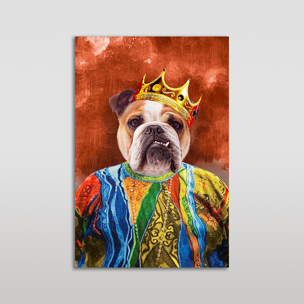 The Notorious Mr. Big Custom Pet Portrait Poster - Noble Pawtrait