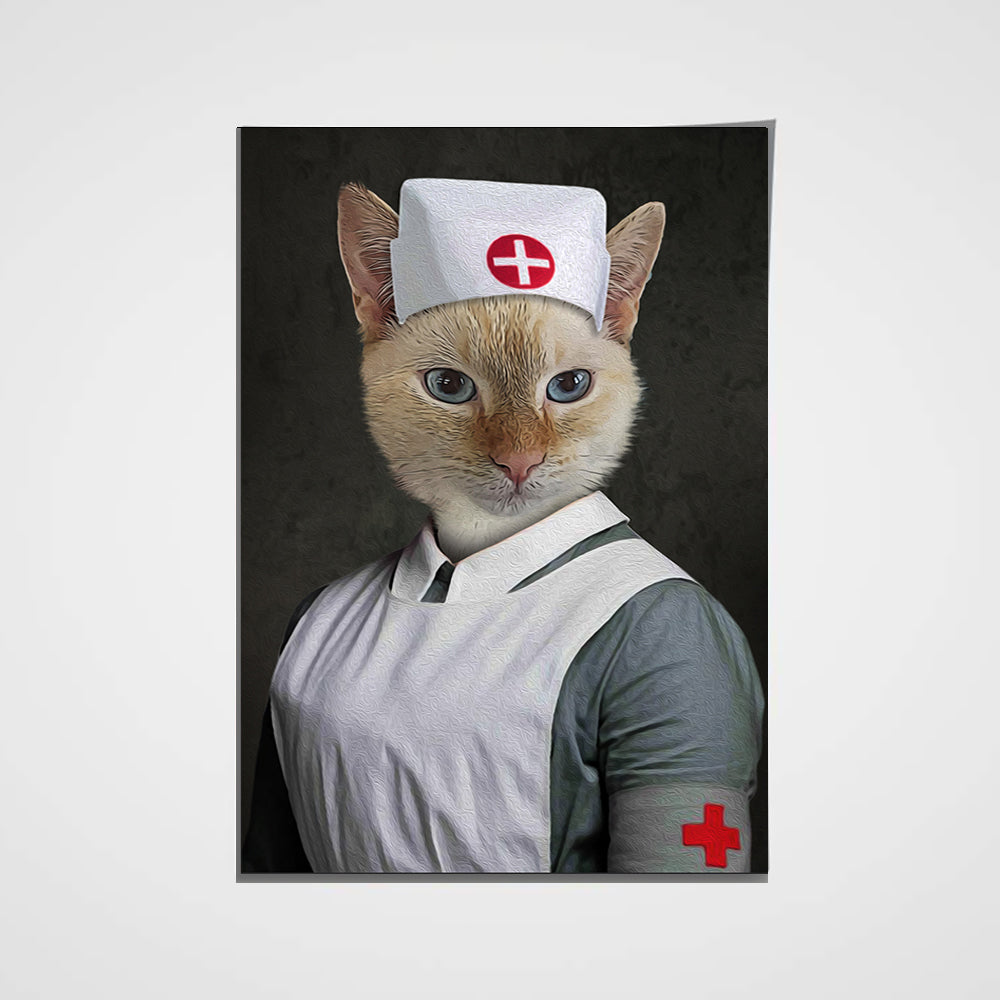 The Nurse Custom Pet Portrait Poster - Noble Pawtrait