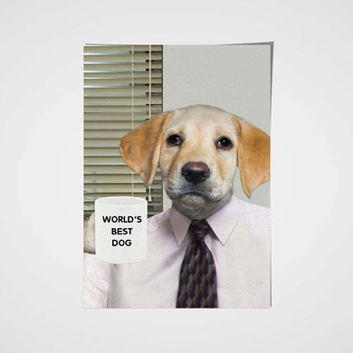 The Office Boss Custom Pet Portrait Poster - Noble Pawtrait