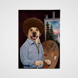 The Painter Custom Pet Portrait Poster - Noble Pawtrait