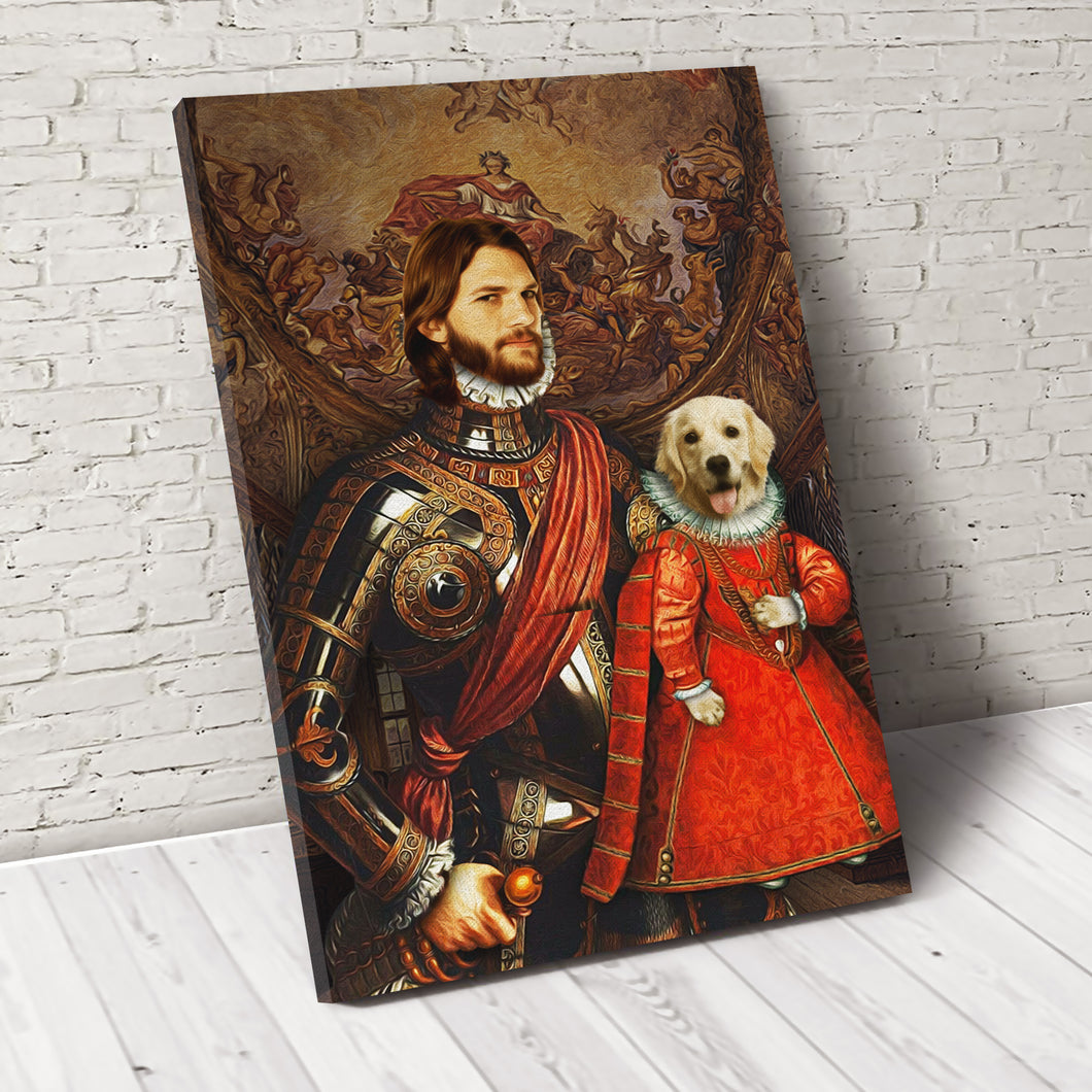 The Partner For Life Pet Portrait Canvas - Noble Pawtrait