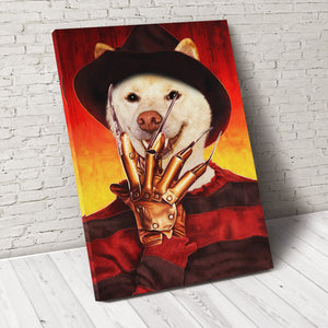 The Paw's Nightmares Custom Pet Portrait Canvas - Noble Pawtrait