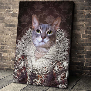 The Pearl Princess Custom Pet Portrait Canvas - Noble Pawtrait