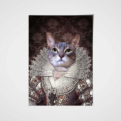 The Pearl Princess Custom Pet Portrait Poster - Noble Pawtrait