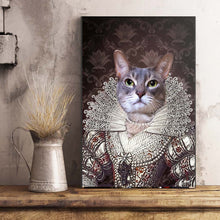 Load image into Gallery viewer, The Pearl Princess Custom Pet Portrait Poster - Noble Pawtrait